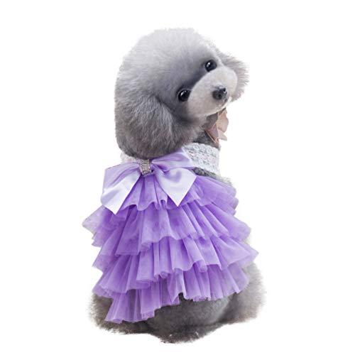 Balacoo Vestido de Perro Cachorro Princesa Tutu Falda de Arco Ropa...