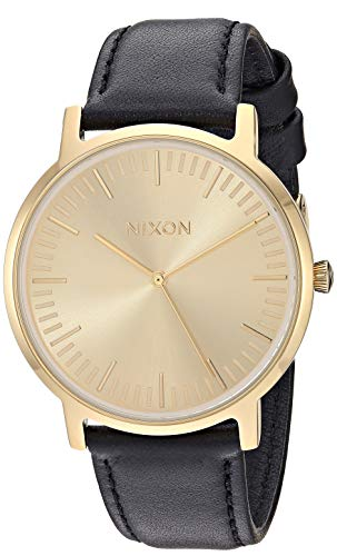Nixon Armbanduhr Porter Leder All Gold / Black