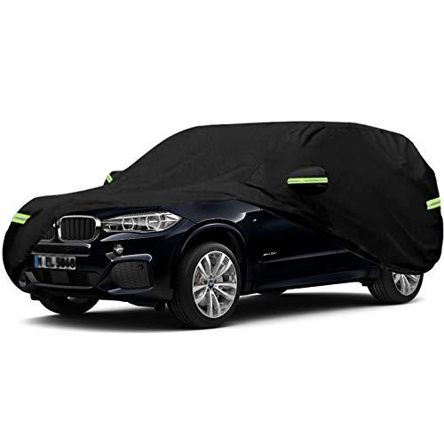 Whitejianpeak Autoabdeckung Kompatibel mit BMW X5 / X5 M / X5 PHEV / X6 / X6 M, Wasserdicht Regenschutz Sonnenschutz Schneeschutz Eisschutz Schutzhülle Staubdicht Allwetterschutz Verdicken Autohülle