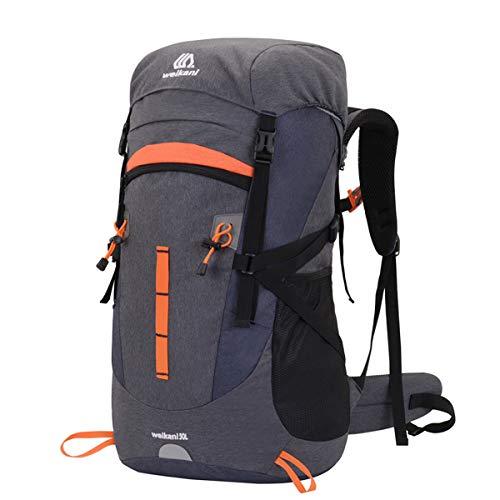 50L Rucksack Wanderrucksäcke Reiserucksack Trekkingrucksäcke Multifunktionale Tagesrucksack Herren Damen Outdoorrucksack Daypack Schulrucksack Sporttasche Laptoptasche für Klettern Camping Reiten