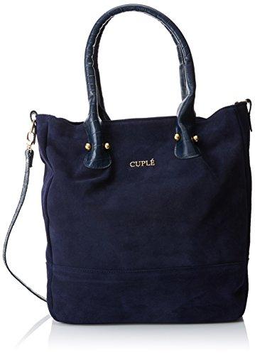 CUPLE 10493 H, Shopper y Bolso de Hombro para Mujer, Azul (Blue), 8x35x30 cm (W x H x L)