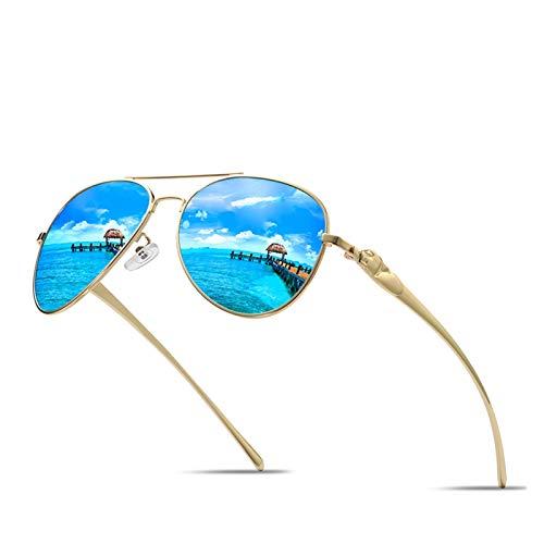 A1-Brave Gafas de Sol Gafas de Sol de aleación de Titanio de Las Mujeres de los Hombres Gafas de Sol polarizadas Gafas de gradiente piloto