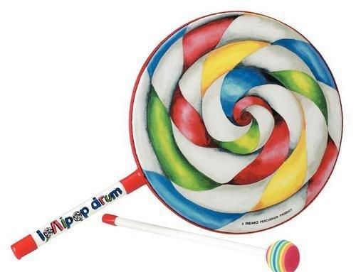 Remo ET-7110-00 Kids Percussion Lollipop Drum, 10