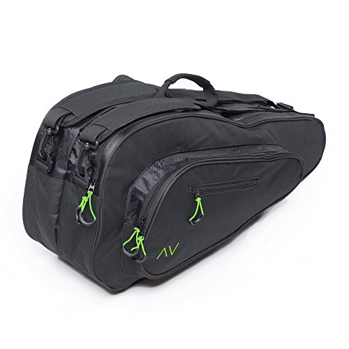 Gigavibe Premium 6R Tennis Bag in Black (Black/Neon)