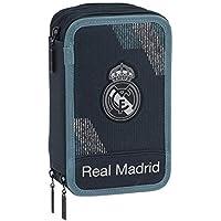 Safta 222419 Real Madrid 2 Estuches 21 cm, Azul