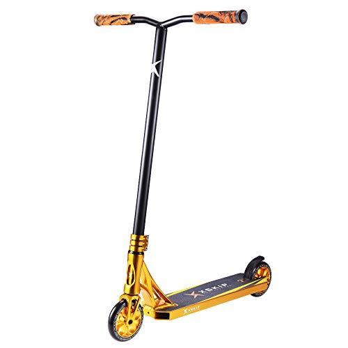 XSKIP Patinete Pro Stunt Trick de 36 pulgadas para jóvenes y adultos con ruedas de núcleo de aluminio de 120 mm.