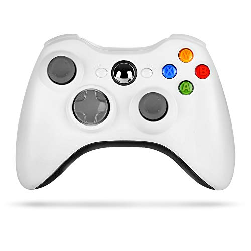 Wireless Controller for Xbox 360, Astarry 2.4GHZ Game Controller Gamepad Joystick for Xbox & Slim 360 PC Windows 7, 8, 10 (White)