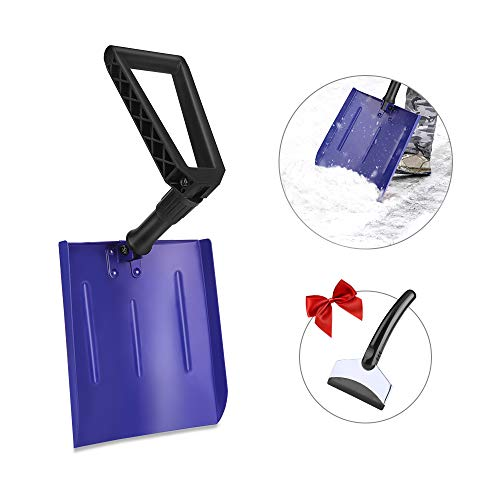 Eventronic Car Shovel Durable Upgrade Aluminum Alloy Material 1043#039#039128#039#039 Foldable Snow Shovel for Car Truck Camping Courtyard Blue