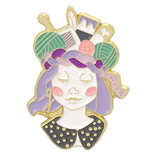 chenlong Handcraft Mädchen Banner Emaille Pin Abzeichen Tastatur Schmetterling Brosche Tasche Jeanshemd Anstecknadel Romantische Blume Schmuck Geschenk Handwerk Mädchen