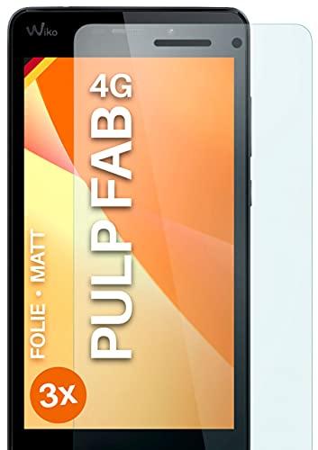 moex Schutzfolie matt kompatibel mit Wiko Pulp Fab 4G - Folie gegen Reflexionen, Anti Reflex Bildschirmschutz, Matte Bildschirmfolie - 3X Stück
