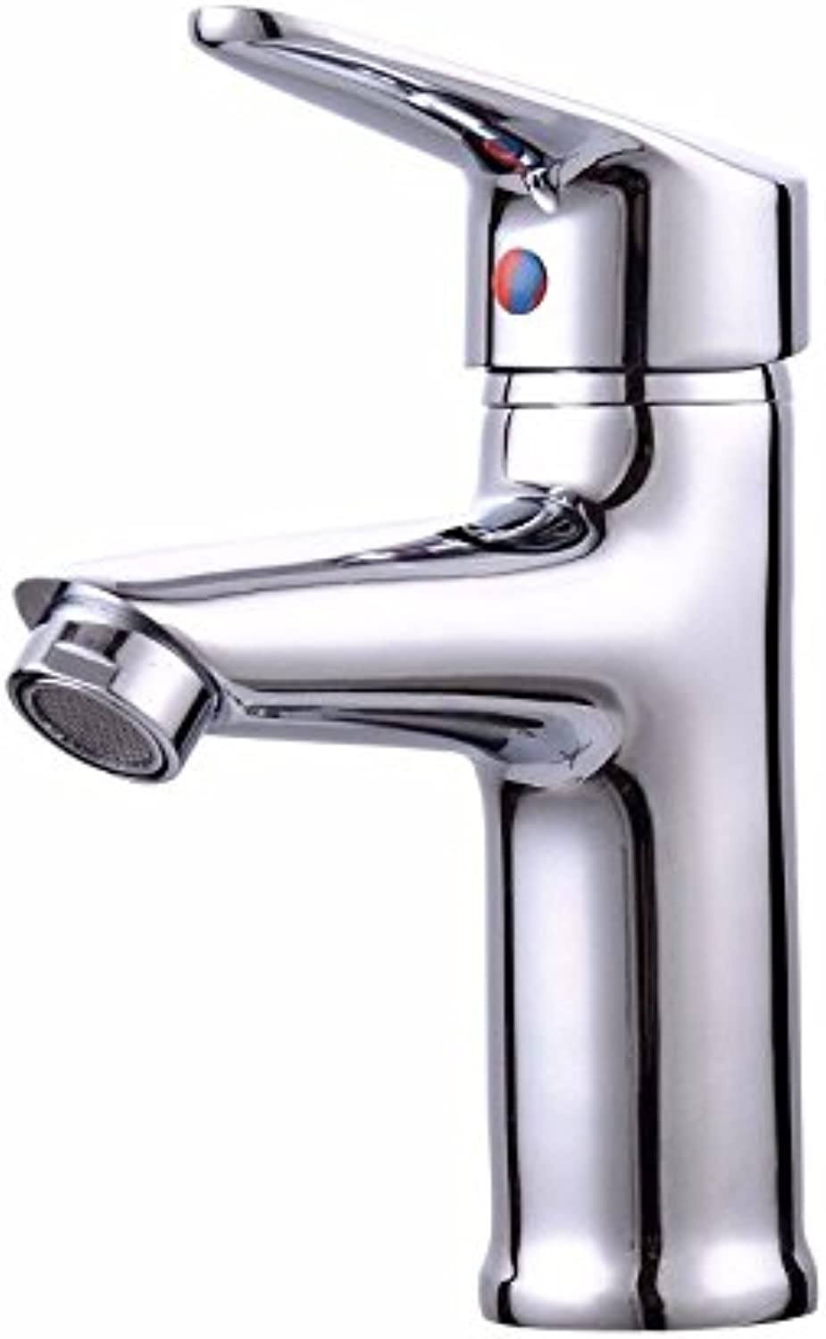 LIANTIAN Copper???Single Hole???Single???hot and Cold Water Mixing Basin Faucet???Kitchen Bathroom Basin Faucet Simple Environmental Predection Energy Saving Low Lead Bathroom Sink Taps