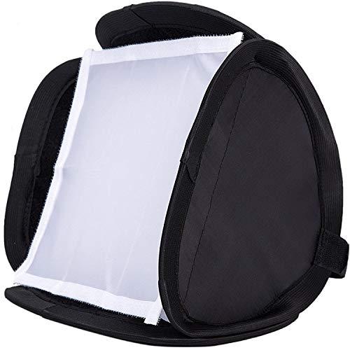 Softbox universale pieghevole (23 x 23 cm, adatto per dispositivi flash), diffusore portatile per ritratti fotografici, fotografia del prodotto, registrazione video, fotografia all'aperto
