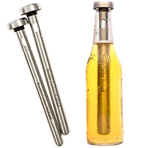 Brew House Beer Chillers - Boxed Gift Set includes 2 Stainless Steel...