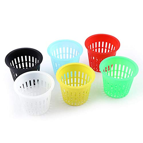 Pflanzen Basket-10pcs Heavy Duty Mesh Topf Net Cup Basket Hydroponic Plant Wachsen Klon Gartenarbeit(Gelb)
