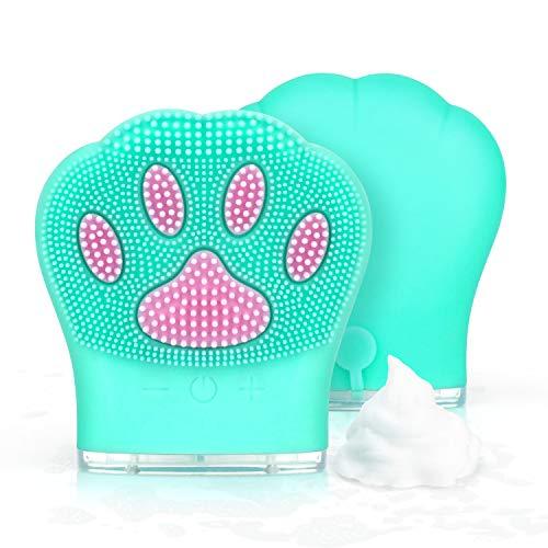 Cepillo de Limpieza Facial de Silicona, PTN Limpiador Facial Electrico Silicona, Recargable...