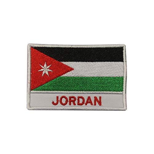 Jordanische Nationalflagge zum Aufbügeln oder Aufnähen, bestickt, für Kleidung