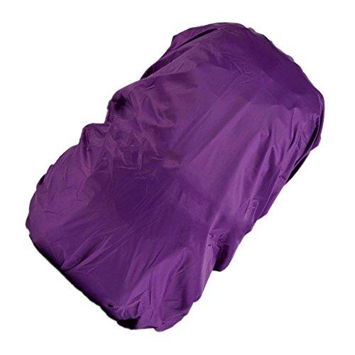 Wasserdicht Regenschutz für Rucksäcke Rucksackschutz Ranzen Regenschutz Rucksackcover Regenüberzug Sicherheitsüberzug Reflektorüberzug 30l-40l - Lila