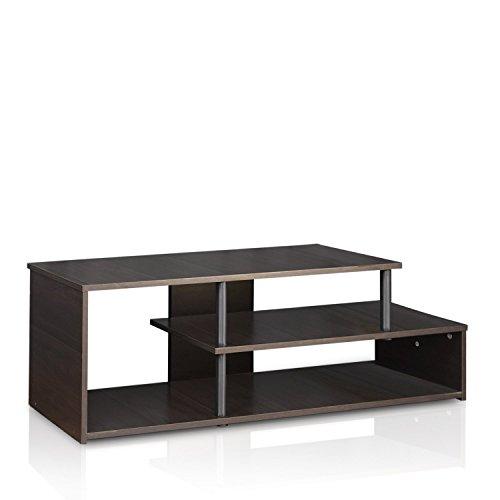 Furinno Tooloze TV-standaard, hout, espresso/zwart, 37.08 x 37.08 x 38.1 cm