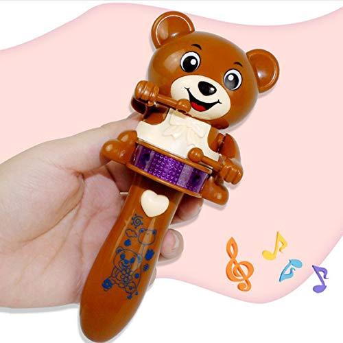 healthwen Juguete eléctrico del Oso de la Historieta Animal Que Destella llevada Divertida con la música para los niños