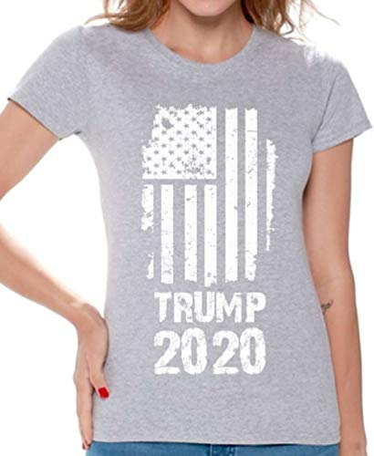 Awkward Styles Trump 2020 Shirt Donald Trump T Shirt Women Republican Gifts Trump 2020 USA Flag S