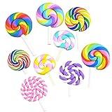 Ultnice Lollipop-Requisiten, Regenbogen-Wirbel, 36Stück