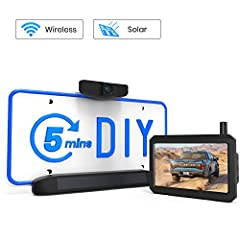 Save $ 200 in 5 Min's DIY: No drilling, no wiring or no professional installation required! To install this wireless backup camera kit, the only tool you need is a screwdriver! Save the installation fee up to $200. Powered By the Sun: Solar1 maintain...