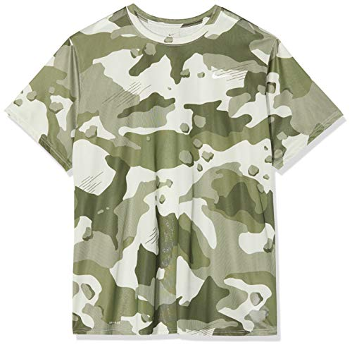 Nike Dry Leg Camo Alloverpoint T-Shirt Homme, Light Bone, FR (Taille Fabricant : XL)