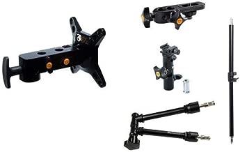 "Tether Tools Studio Vu-2 Photo Booth, Includes Studio Vu-2 Monitor Mount, Rock Solid Master Arm, RapidMount Cold Shoe Elbow, Rock Solid Camera Platform, Rock Solid 22"" Telescoping Arm"