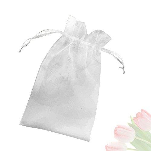 G2PLUS Organza Geschenkbeutel 100Stk Organzabeutel Schöne Säckchen Organzasäckchen für Gastgeschenke 10CM x15CM