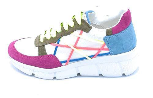 Mister Big L4K3 05 Sneaker Lacci Tela-camoscio Multicolor - Taglia Scarpa 37 Colore Multicolor