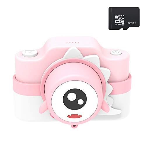 子供用 デジタルカメラ WIFI 一眼レフ 子供用カメラ 自撮可能 2400万画素 2インチ IPS画面 子供プレゼント 32G容量SD付き 日本語説明書付き (ピンク)