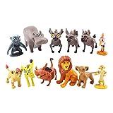 JINGZHONG Juguetes de Peluche,12 unids/Set Figuras de Dibujos Animados The Lion Guard King Kion Simba Bunga Beshte Fuli ONO PVC Figura de acción Juguetes Regalo para niños