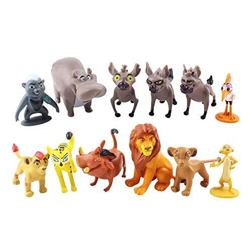 YUXIAN Plush toys,12pcs Cartoon The Lion Guard PVC Action Figures Bunga Beshte Fuli Ono The Lion Nala Timon Pumbaa Sarabi Sarafina Doll Kids Toys