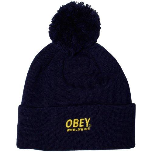 Obey - Bonnet Homme Worldwide Pom Pom Beanie - Navy