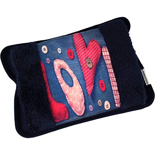 MovilCom® Bolsa de Agua Caliente Eléctrica | Caliente en 15 min | Calientamanos | Dolor muscular, espalda, menstrual (Mod 104)