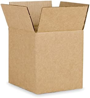 EcoBox Brand Corrugated Shipping Box 6 x 6 x 6 Inches, Pack of 25 (V-8701)
