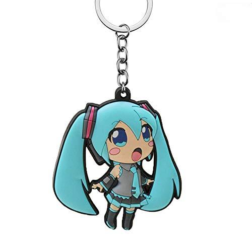 Générique Vocaloid Porte-clés Caoutchouc Double Face Miku Hatsune - 6,5 cm