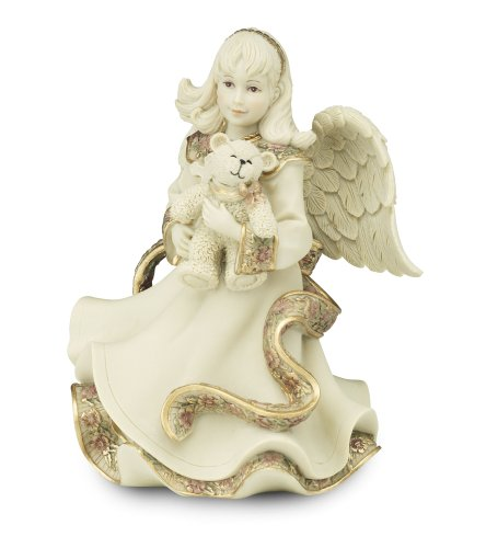 Pavilion Gift Company Sarah's Angels Tapestry Series Angel Holding Teddy Bear Figurine, 6-Inch