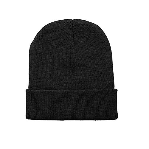 Zando Beanie for Men Women Cuffed Cap Soft Slouchy Beanie Winter Knit Hats...