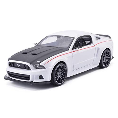 YNHNI Modelos de aleación de coches 1:24 Ford Mustang BOSS estilo original de coleccionistas modelo, decoración del coche (color: blanco)