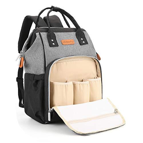 Mochila para Madre y bebé  para pañales de Gran Capacidad  con Puerto USB   Adecuada
