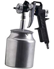 Paint spray gun with suction cup