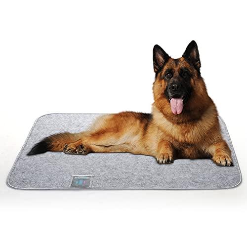 Luxear Hundematte waschbar gegen Geruch, Matte für Hunde Katzen mit stark Saugfähigkeit, Hundedecke rutschfest ungiftig, Trainingsunterlagen Matte Pads für Haustiere, 80×110cm