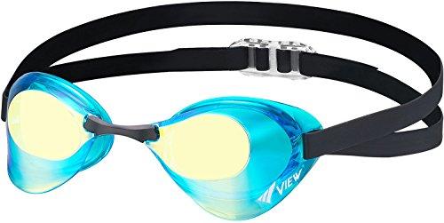 ビュー(VIEW) スイミング 競泳用 ゴーグル ミラータイプ ブレード Fina承認 V121MR AMY
