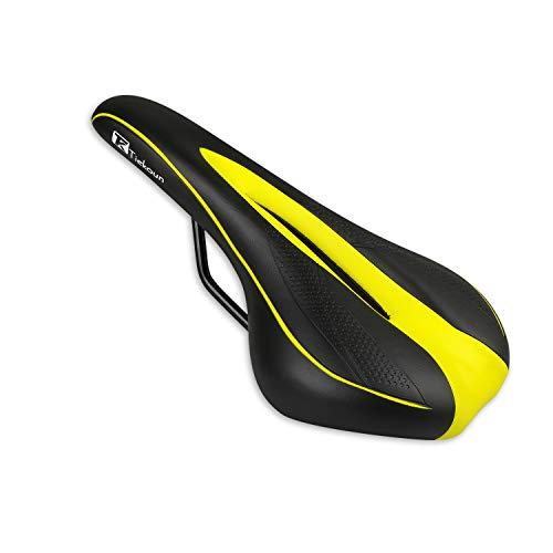 Tiekoun Bicycle Seat PVC Leather Breathable Comfortable Saddle Bicycle Saddle Ergonomics Design for Mountain Bikes,Road Bikes - $6.29