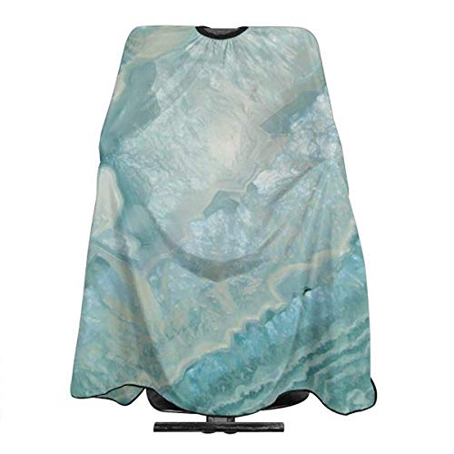 Aquamarine Pastel And Teal Agate Crystal Waterproof Haircut Apron Professional Salon Cape for Men Women Adult Hair Cutting & Styling Anti static Cutting Cloth 55 X 66 inch