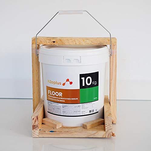 Pintura para Suelos Exterior e Interior Floor Verde 10Kg · Pintura para Suelos Garaje, Hormigon, Asfalto o Baldosa · Producto Natural 100% en Base Agua, SIN Olor a Disolventes Químicos