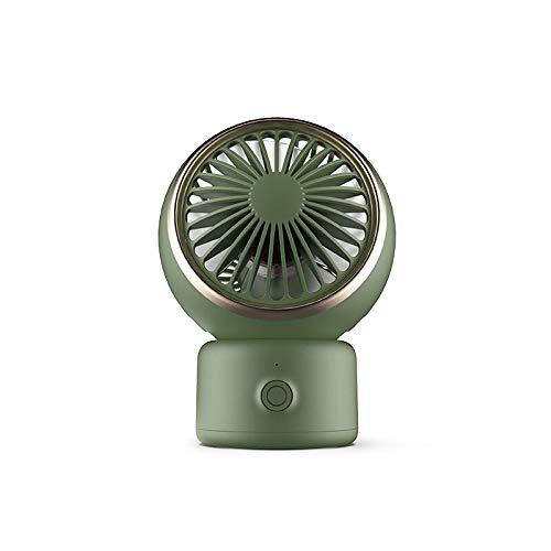 Ventilador pequeño de oficina silencioso para escritorio, mini cabezal de aromaterapia, portátil, para hogar, pequeño ventilador eléctrico (color: verde)