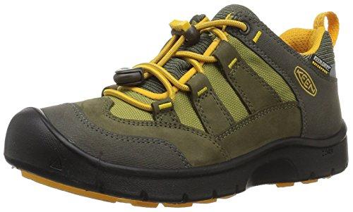 KEEN Hikeport Waterproof Junior Hiking Schuh - SS18, Dark Olive/Citrus, 36 EU