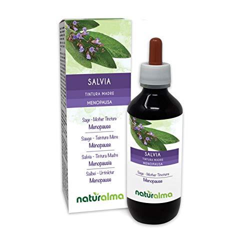 Salvia (Salvia officinalis) foglie Tintura Madre analcoolica NATURALMA | Estratto liquido gocce 200 ml | Integratore alimentare | Vegano